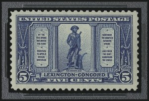 Sale Number 953, Lot Number 1343, 1922-29 Issues (Scott 551-621)5c Lexington-Concord (619), 5c Lexington-Concord (619)