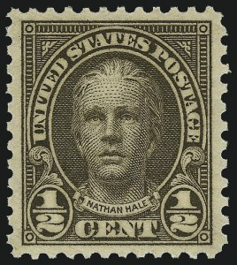 Sale Number 953, Lot Number 1361, 1925 and Later Issues (Scott 622 and Later Issues)-1/2c Olive Brown (653), -1/2c Olive Brown (653)