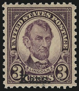 Sale Number 953, Lot Number 1364, 1925 and Later Issues (Scott 622 and Later Issues)3c Kans. Ovpt. (661), 3c Kans. Ovpt. (661)