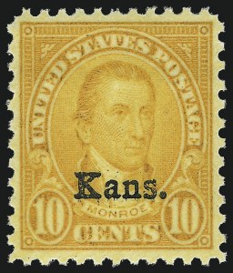 Sale Number 953, Lot Number 1370, 1925 and Later Issues (Scott 622 and Later Issues)10c Kans. Ovpt. (668), 10c Kans. Ovpt. (668)