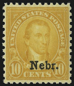 Sale Number 953, Lot Number 1371, 1925 and Later Issues (Scott 622 and Later Issues)10c Nebr. Ovpt. (679), 10c Nebr. Ovpt. (679)