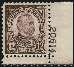 Sale Number 953, Lot Number 1374, 1925 and Later Issues (Scott 622 and Later Issues)12c Brown Violet (693), 12c Brown Violet (693)