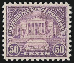 Sale Number 953, Lot Number 1379, 1925 and Later Issues (Scott 622 and Later Issues)50c Red Lilac (701), 50c Red Lilac (701)