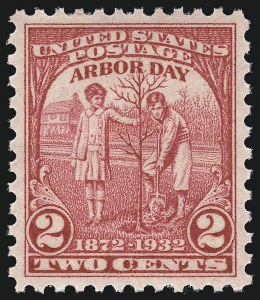 Sale Number 953, Lot Number 1380, 1925 and Later Issues (Scott 622 and Later Issues)2c Arbor Day (717), 2c Arbor Day (717)