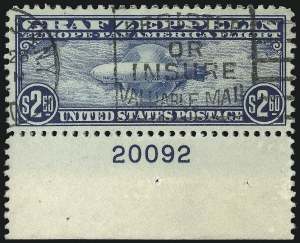 Sale Number 953, Lot Number 1410, Air Post$2.60 Graf Zeppelin (C15), $2.60 Graf Zeppelin (C15)