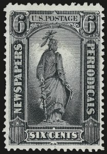 Sale Number 953, Lot Number 1658, Newspapers and Periodicals6c Gray Black, 1875 Special Printing (PR36), 6c Gray Black, 1875 Special Printing (PR36)