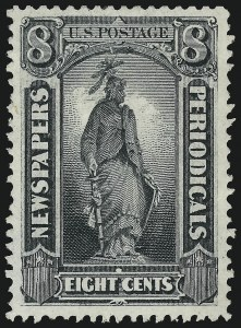 Sale Number 953, Lot Number 1659, Newspapers and Periodicals8c Gray Black, 1875 Special Printing (PR37), 8c Gray Black, 1875 Special Printing (PR37)