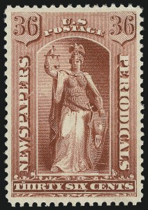 Sale Number 953, Lot Number 1660, Newspapers and Periodicals36c Red, 1879 Issue (PR65), 36c Red, 1879 Issue (PR65)