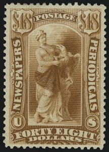 Sale Number 953, Lot Number 1666, Newspapers and Periodicals$48.00 Yellow Brown, 1879 Issue (PR78), $48.00 Yellow Brown, 1879 Issue (PR78)