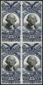 Sale Number 953, Lot Number 1830, Revenues (Second Issue)$25.00 Blue & Black, Plate Proof on Card (R130P4), $25.00 Blue & Black, Plate Proof on Card (R130P4)