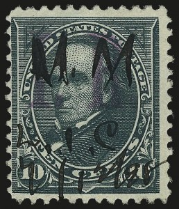 "Sale Number 953, Lot Number 1847, Revenues (Third Issue, Proprietary)10c Dark Green, ""I.R."" Overprint (R157), 10c Dark Green, ""I.R."" Overprint (R157)"