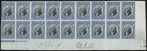 Sale Number 953, Lot Number 1851, Revenues (Third Issue, Proprietary)3c Blue & Black, Proprietary, Plate Proof on Bond (RB3TC5), 3c Blue & Black, Proprietary, Plate Proof on Bond (RB3TC5)