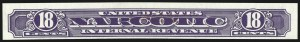 Sale Number 953, Lot Number 1854, Revenues (Third Issue, Proprietary)18c Violet, Narcotic, Imperforate (RJA68a), 18c Violet, Narcotic, Imperforate (RJA68a)