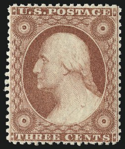 Sale Number 953, Lot Number 198, 1857-60 Issue (Scott 18-39)3c Red, Ty. III (26), 3c Red, Ty. III (26)