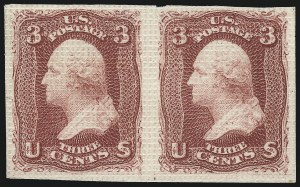 Sale Number 953, Lot Number 20, Essays, Proofs and Specimens3c Rose, All-Over Grill Essay, Points Up, Imperforate (79-E15c, formerly 66aP4), 3c Rose, All-Over Grill Essay, Points Up, Imperforate (79-E15c, formerly 66aP4)