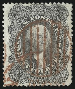 Sale Number 953, Lot Number 265, 1857-60 Issue (Scott 18-39)24c Gray Lilac (37), 24c Gray Lilac (37)