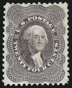 Sale Number 953, Lot Number 289, 1875 Reprint of 1857-60 Issue (Scott 40-47)24c Blackish Violet, Reprint (45), 24c Blackish Violet, Reprint (45)
