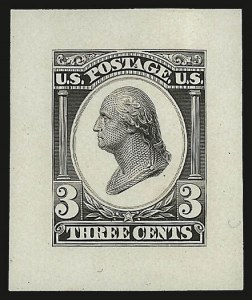 Sale Number 953, Lot Number 30, Essays, Proofs and SpecimensContinental Bank Note Co., 3c Liberty Die Essays on White Glazed Paper, Plate Essay on India, Plate Essay Perforated (184-E12b, 184-E12c, 184-E12d), Continental Bank Note Co., 3c Liberty Die Essays on White Glazed Paper, Plate Essay on India, Plate Essay Perforated (184-E12b, 184-E12c, 184-E12d)