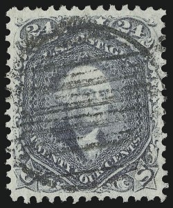 Sale Number 953, Lot Number 336, 1861-66 Issue (Scott 56-78)24c Steel Blue (70b), 24c Steel Blue (70b)