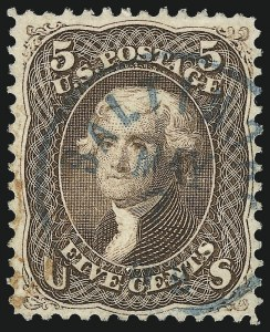 Sale Number 953, Lot Number 358, 1861-66 Issue (Scott 56-78)5c Brown (76), 5c Brown (76)