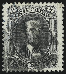 Sale Number 953, Lot Number 360, 1861-66 Issue (Scott 56-78)15c Black (77), 15c Black (77)