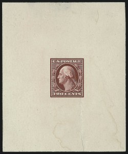 Sale Number 953, Lot Number 43, Essays, Proofs and Specimens2c Carmine, Large Die Proof on India (332P1), 2c Carmine, Large Die Proof on India (332P1)