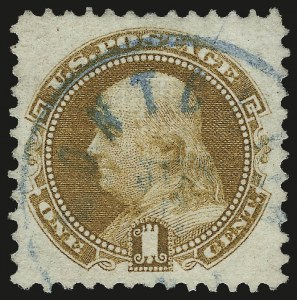 Sale Number 953, Lot Number 442, 1869 Pictorial Issue (Scott 112-122)1c Buff (112), 1c Buff (112)