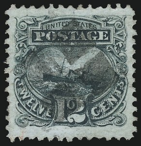 Sale Number 953, Lot Number 480, 1869 Pictorial Issue (Scott 112-122)12c Green (117), 12c Green (117)
