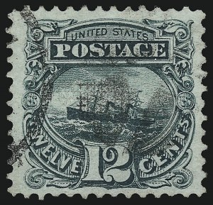 Sale Number 953, Lot Number 481, 1869 Pictorial Issue (Scott 112-122)12c Green (117), 12c Green (117)