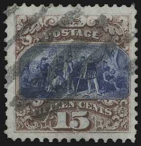 Sale Number 953, Lot Number 484, 1869 Pictorial Issue (Scott 112-122)15c Brown & Blue, Ty. I (118), 15c Brown & Blue, Ty. I (118)