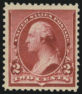 "Sale Number 953, Lot Number 683, 1890-93 Issue (Scott 219-229)2c Carmine, Cap on Both ""2""'s (220c), 2c Carmine, Cap on Both ""2""'s (220c)"