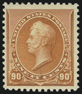 Sale Number 953, Lot Number 691, 1890-93 Issue (Scott 219-229)90c Orange (229), 90c Orange (229)