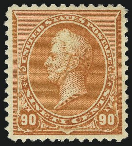 Sale Number 953, Lot Number 692, 1890-93 Issue (Scott 219-229)90c Orange (229), 90c Orange (229)