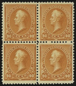 Sale Number 953, Lot Number 692A, 1890-93 Issue (Scott 219-229)90c Orange (229), 90c Orange (229)
