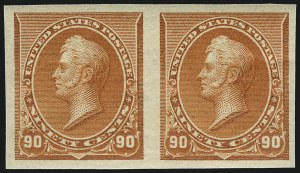 Sale Number 953, Lot Number 693, 1890-93 Issue (Scott 219-229)90c Orange, Imperforate (229a), 90c Orange, Imperforate (229a)