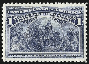 Sale Number 953, Lot Number 695, 1893 Columbian Issue (Scott 230-245)1c Columbian (230), 1c Columbian (230)