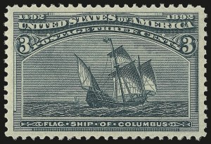 Sale Number 953, Lot Number 698, 1893 Columbian Issue (Scott 230-245)3c Columbian (232), 3c Columbian (232)