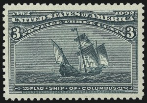 Sale Number 953, Lot Number 699, 1893 Columbian Issue (Scott 230-245)3c Columbian (232), 3c Columbian (232)