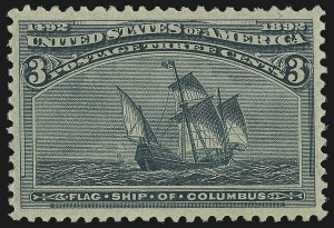 Sale Number 953, Lot Number 701, 1893 Columbian Issue (Scott 230-245)3c Columbian (232), 3c Columbian (232)