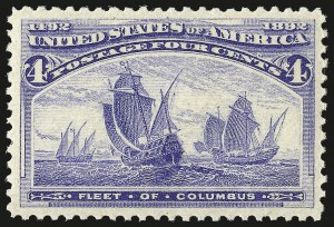 Sale Number 953, Lot Number 705, 1893 Columbian Issue (Scott 230-245)4c Columbian (233), 4c Columbian (233)
