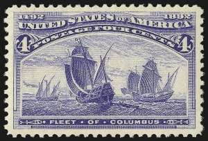 Sale Number 953, Lot Number 706, 1893 Columbian Issue (Scott 230-245)4c Columbian (233), 4c Columbian (233)