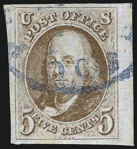 Sale Number 953, Lot Number 71, 1847 Issue (Scott 1-2)5c Red Brown (1), 5c Red Brown (1)