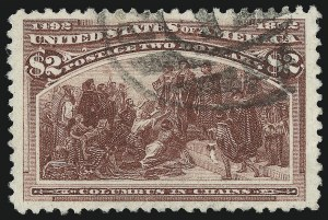 Sale Number 953, Lot Number 747, 1893 Columbian Issue (Scott 230-245)$2.00 Columbian (242), $2.00 Columbian (242)