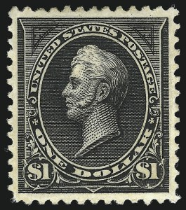Sale Number 953, Lot Number 790, 1894 Unwatermarked Bureau Issue (Scott 246-263)$1.00 Black, Ty. II (261A), $1.00 Black, Ty. II (261A)