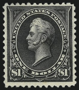 Sale Number 953, Lot Number 792, 1894 Unwatermarked Bureau Issue (Scott 246-263)$1.00 Black, Ty. II (261A), $1.00 Black, Ty. II (261A)
