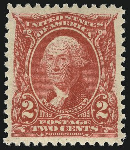 Sale Number 953, Lot Number 898, 1902-08 Issues (Scott 300-320)2c Carmine (301), 2c Carmine (301)