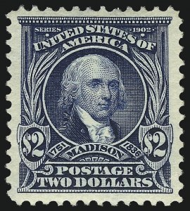 Sale Number 953, Lot Number 927, 1902-08 Issues (Scott 300-320)$2.00 Dark Blue (312), $2.00 Dark Blue (312)