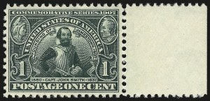 Sale Number 953, Lot Number 957, 1907 Jamestown Issue (Scott 328-330)1c Jamestown (328), 1c Jamestown (328)
