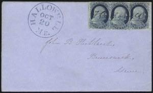 Sale Number 954, Lot Number 3048, 1851-57 Issue1c Blue, Ty. II (7), 1c Blue, Ty. II (7)