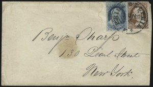 Sale Number 954, Lot Number 3050, 1851-57 Issue1c Blue, Ty. IV, 3c Dull Red (9, 11), 1c Blue, Ty. IV, 3c Dull Red (9, 11)
